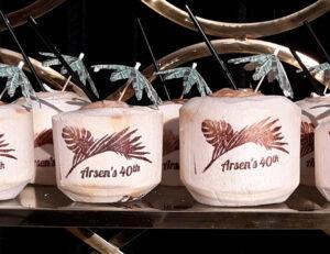 Hawaiian Themed Birthday Celebration Personalized Drink