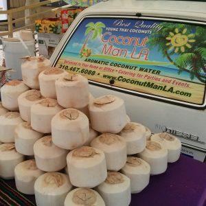 Young Thai Coconuts Coconut Man LA Aromatic Coconut Water