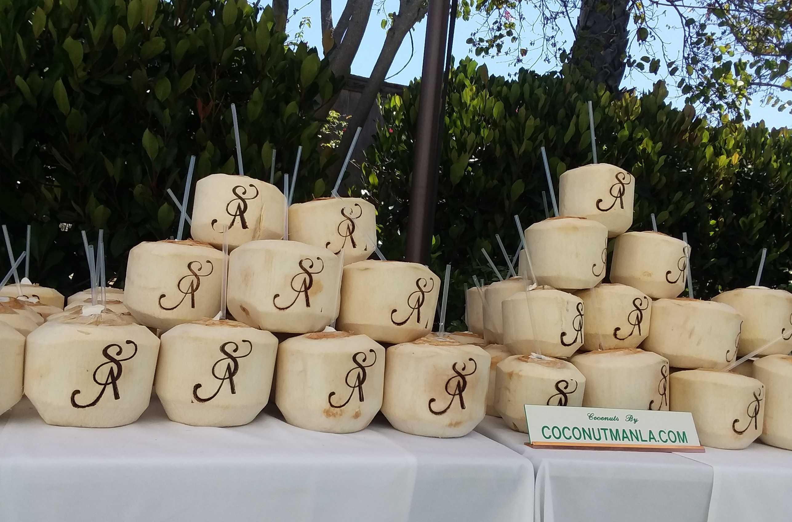 Coconut Buffet Bar for Hindu Weddings and Events